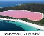 lake hillier  western australia ... | Shutterstock . vector #714405349