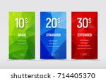 set of vector price tables.... | Shutterstock .eps vector #714405370