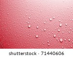 Red Water Drops Background...