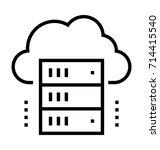 network storage icon   Shutterstock .eps vector #714415540
