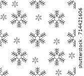 snowflake seamless pattern....   Shutterstock .eps vector #714421606