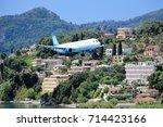 Plane Approaching Corfu Airport....