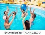 dancing international youth is... | Shutterstock . vector #714423670