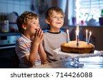 beautiful kids  little boys... | Shutterstock . vector #714426088