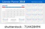 2018 Calendar Print Template...