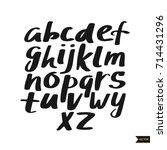 alphabet letters.black... | Shutterstock .eps vector #714431296