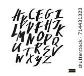 alphabet letters.black...   Shutterstock .eps vector #714431323
