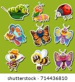 sticker design for different... | Shutterstock .eps vector #714436810