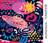creative seamless pattern.... | Shutterstock .eps vector #714439258