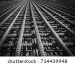 steel rebars for reinforced... | Shutterstock . vector #714439948