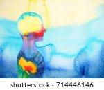 human head  chakra power ... | Shutterstock . vector #714446146