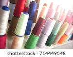 Several Of Colored Spools Of...