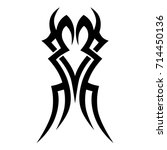 tattoo tribal vector design.... | Shutterstock .eps vector #714450136