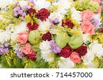 beautiful bunch of colorful...   Shutterstock . vector #714457000