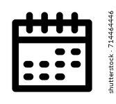 calendar icon   Shutterstock .eps vector #714464446
