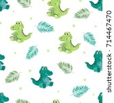 seamless pattern with cute...   Shutterstock .eps vector #714467470