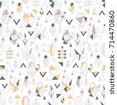 seamless pattern with geometric ... | Shutterstock .eps vector #714470860