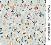 seamless pattern with geometric ... | Shutterstock .eps vector #714470923