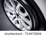 close up of rims car alloy... | Shutterstock . vector #714472846