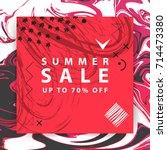 summer sale banner. square....   Shutterstock .eps vector #714473380