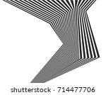 black and white stripe line...   Shutterstock .eps vector #714477706
