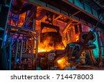 steel making workshop | Shutterstock . vector #714478003
