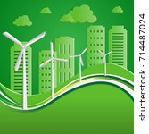 green energy an eco friendly... | Shutterstock .eps vector #714487024