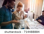 picture of young designers...   Shutterstock . vector #714488884