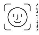 face id icon. vector... | Shutterstock .eps vector #714491284