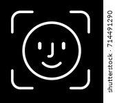 face id icon. vector... | Shutterstock .eps vector #714491290