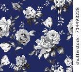 shabby chic vintage roses ... | Shutterstock . vector #714493228