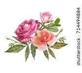 illustration of beautiful... | Shutterstock . vector #714494884