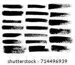 painted grunge stripes set.... | Shutterstock .eps vector #714496939