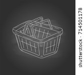 shopping basket vector doodle... | Shutterstock .eps vector #714501178