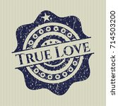 blue true love grunge seal | Shutterstock .eps vector #714503200