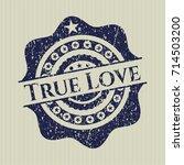 blue true love grunge seal   Shutterstock .eps vector #714503200