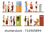 queue people set with registry... | Shutterstock .eps vector #714505894
