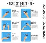 fidget spinner stress relieving ... | Shutterstock .eps vector #714505990