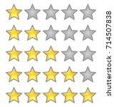 rating stars set gold color ... | Shutterstock .eps vector #714507838