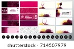 set of banners with textured... | Shutterstock .eps vector #714507979