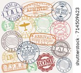 Rome Italy Stamp Vector Art...