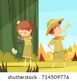 scouting boys summer camp... | Shutterstock .eps vector #714509776