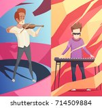 art professions vertical... | Shutterstock .eps vector #714509884