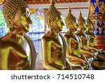 buddha statue used as amulets... | Shutterstock . vector #714510748