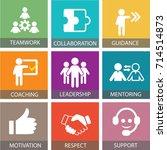 vector illustration. leadership ... | Shutterstock .eps vector #714514873