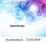 abstract techno vector...   Shutterstock .eps vector #71451949