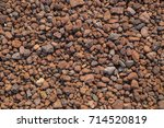 volcanic red rocks background... | Shutterstock . vector #714520819