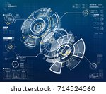 abstract vector circular... | Shutterstock .eps vector #714524560