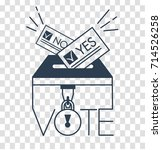 voting concept   hand putting... | Shutterstock .eps vector #714526258