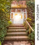 sunbursts gleam through glass...   Shutterstock . vector #714526894